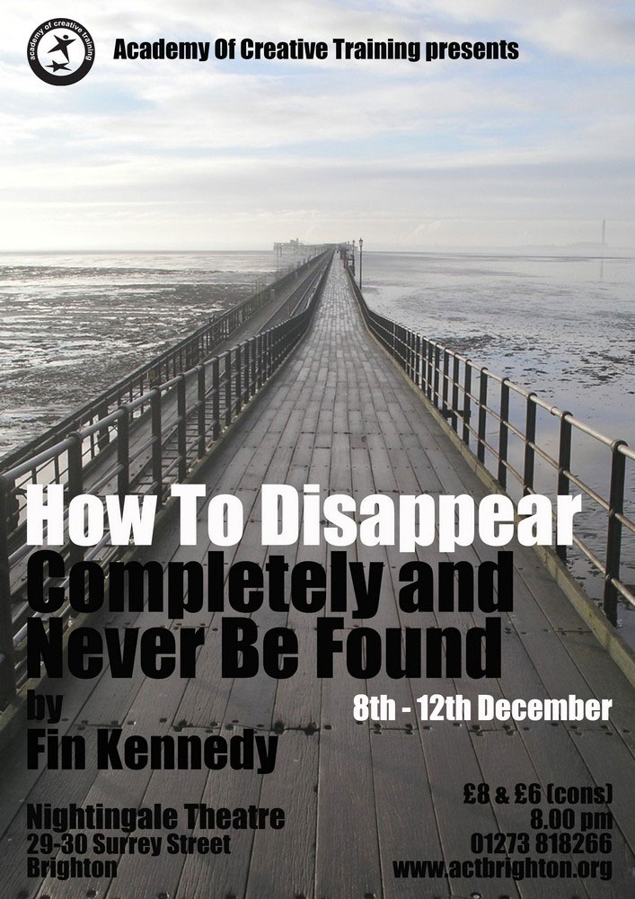 how to disappear poster